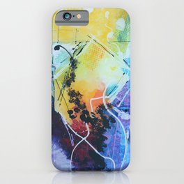 Harmony colourful  abstract artwork iPhone Case