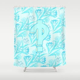 Interrobang! with tulips Shower Curtain