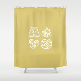 Bending All Four Elements – Wind Shower Curtain