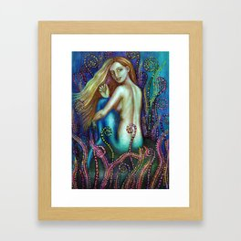 Mermaid Venus Framed Art Print