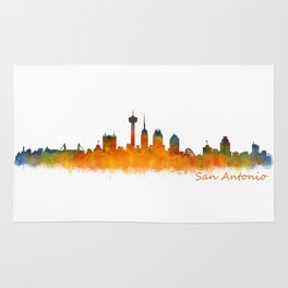 San Antonio City Skyline Hq v2 Rug