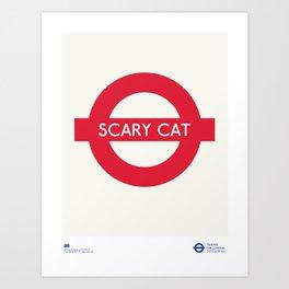 Scary Cat   TFL Art Print