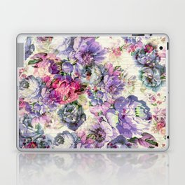 Vintage bohemian rustic pink lavender floral Laptop & iPad Skin