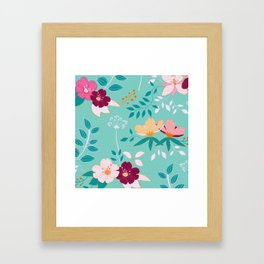 Exotic Flower Pattern Framed Art Print