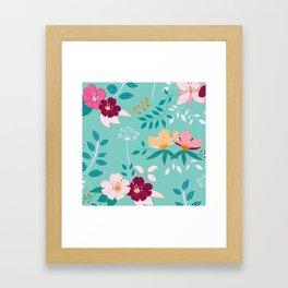 Exotic Flower Pattern Framed Art Print