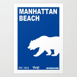Manhattan Beach.  Art Print