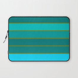 Teal Stripes Laptop Sleeve