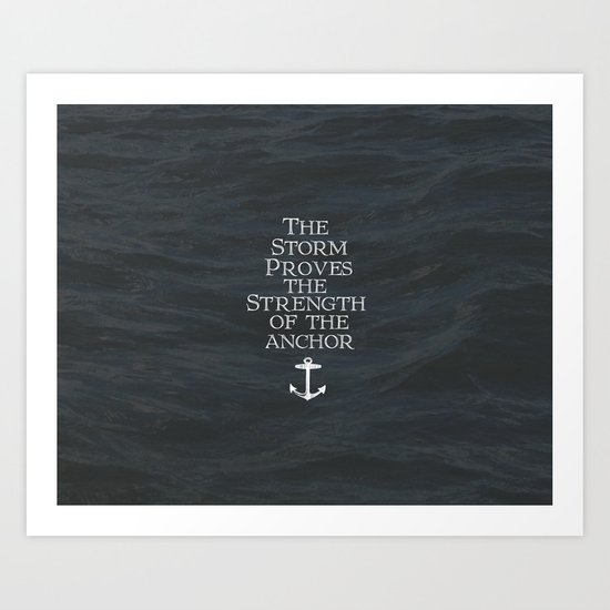My Anchor Holds Art Print