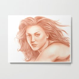 Woman Portrait 3 Metal Print