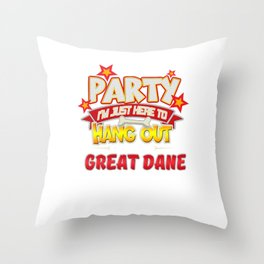 Great Dane Dog Party Throw Pillow