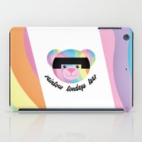 bondage iPad Cases featuring Classic Rainbow Bondage Bear 2.0 by YOSH FRIDAY