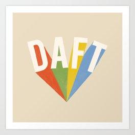 Letters : Daft Art Print