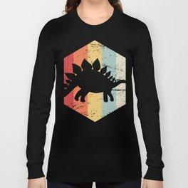 Retro 70s Stegosaurus Long Sleeve T-shirt