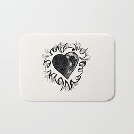 """If I Had A Heart, This Is What It Would Look Like"" Bath Mat"