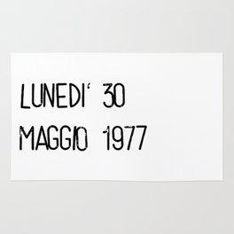 Lunedì 30 maggio 1977 Rug