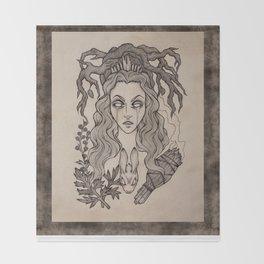 The Seeress Throw Blanket