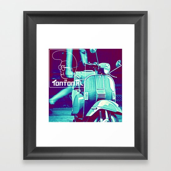 scooter white tonton AL Framed Art Print