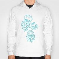 jellyfish Hoodies featuring Jellyfish by Liz Urso