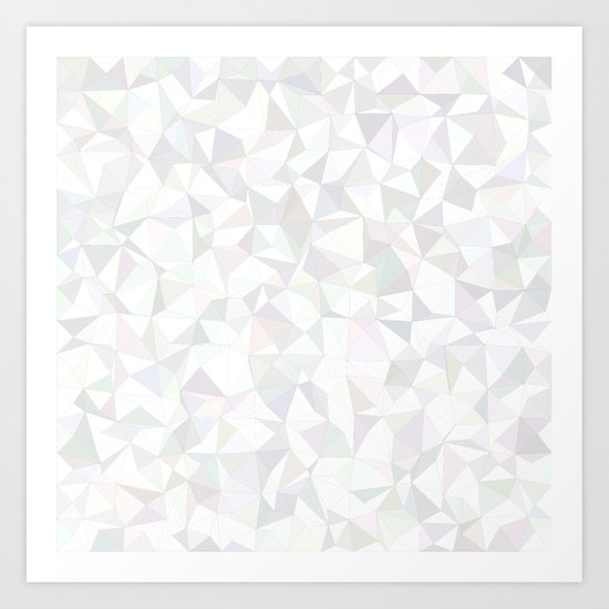 White triangle mosaic Art Print