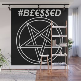 TRULY #BLESSED INVERTED Wall Mural