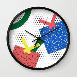 Memphis Christmas Presents Wall Clock