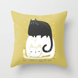 [ CAT STACK ] Throw Pillow
