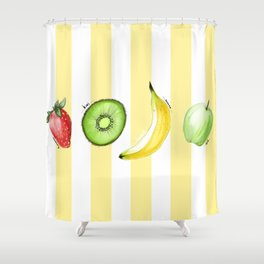 The Summer Fruits Shower Curtain
