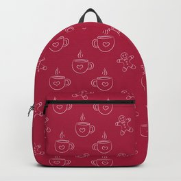 Gingerbread man and Hot Chocolate Pattern Backpack