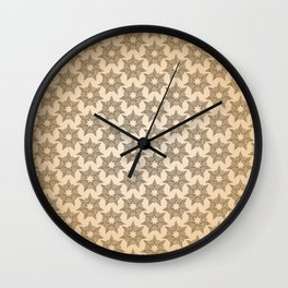 GRAPHIC PATTERN Sparkling stars | gold Wall Clock