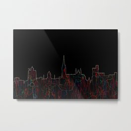 Cork, Ireland Skyline - Live Wire Metal Print