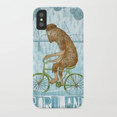 Dirty Wet Bigfoot Hipster iPhone X Slim Case