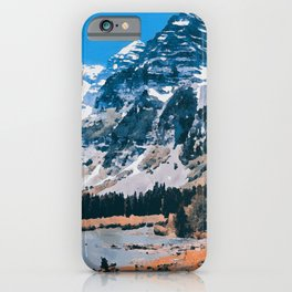 The Wonderful Maroon Bells iPhone Case