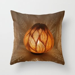 HAPPY LEAFS Throw Pillow