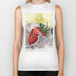 Strawberry Splash Biker Tank