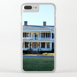 Plantation Mansion Clear iPhone Case