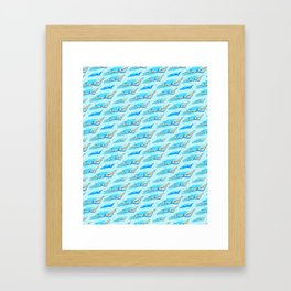 Swimming girls Framed Art Print