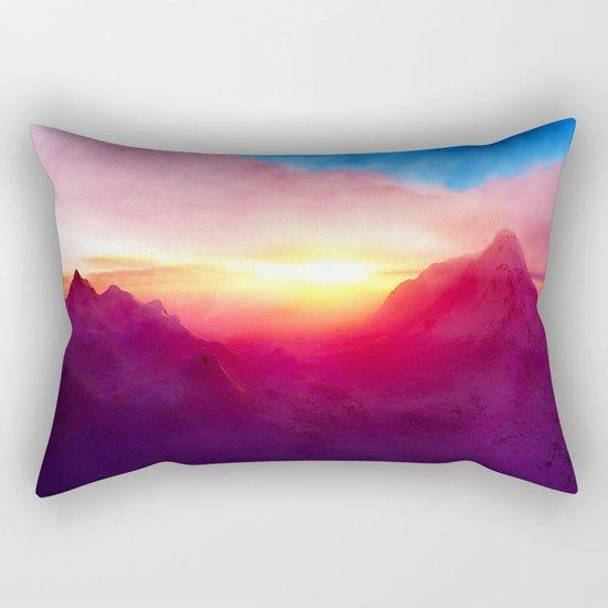pastel mountain Rectangular Pillow