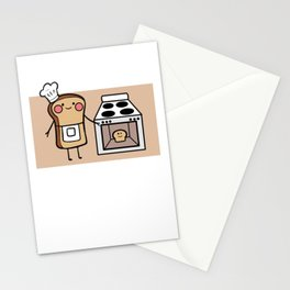 Toast Bun In The Oven Mother To Be Gift Stationery Cards