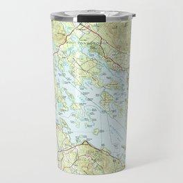 Lake Winnipesaukee Map (1986) Travel Mug