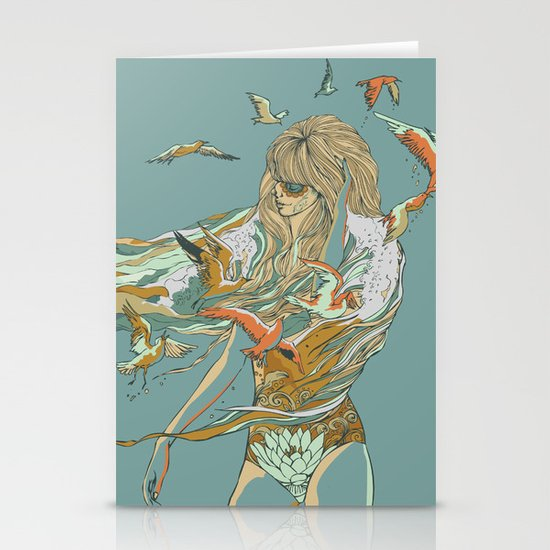 MELT INTO THE OCEAN Stationery Cards