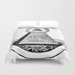 the Eye of Providence from the Great seal of America  All seeing Eye us dollar money cash Pyramid Duvet Cover