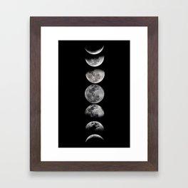 Phases of the Moon Framed Art Print