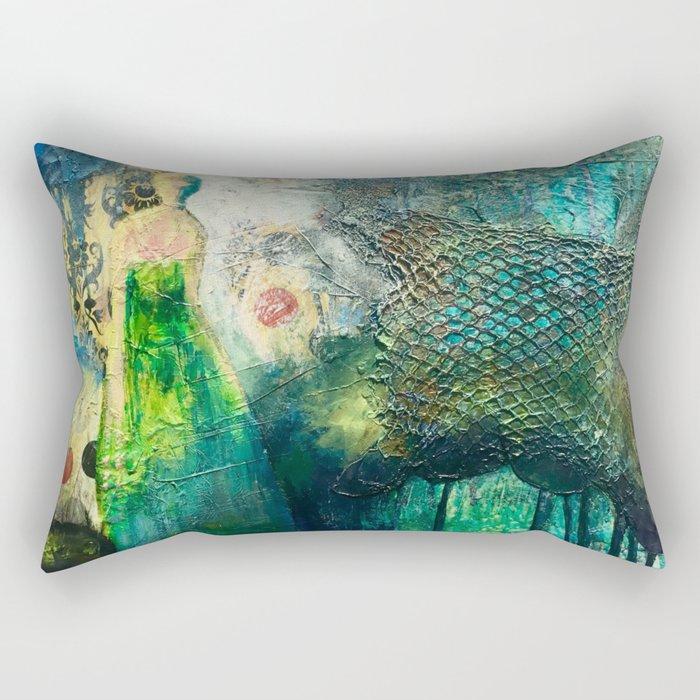 The emerald lady Rectangular Pillow