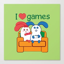 Ernest | Loves games Canvas Print