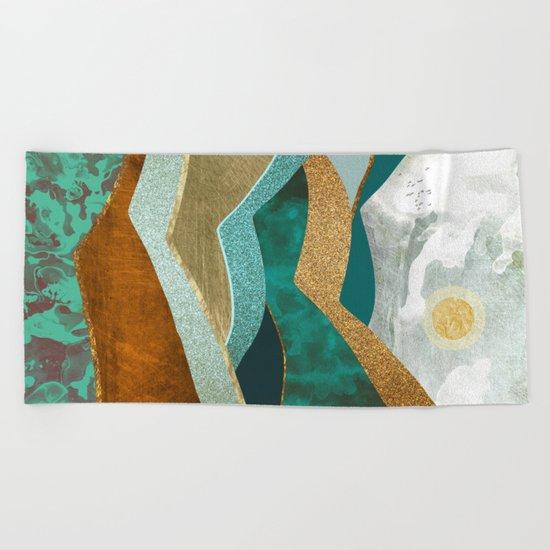 Golden Hills Beach Towel