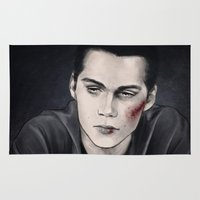 stiles stilinski Area & Throw Rugs featuring Stiles by ribkaDory