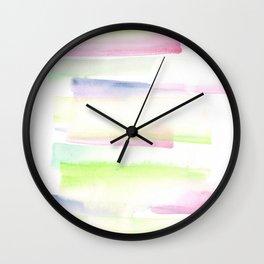 170527 Back to Basic Pastel Watercolour 5 Wall Clock