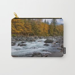 Fall on the Skykomish River Carry-All Pouch
