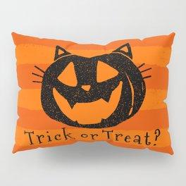 Trick or Treat? Halloween cat lady Pillow Sham