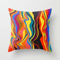 african Throw Pillows featuring African Heat by Matthias Hennig